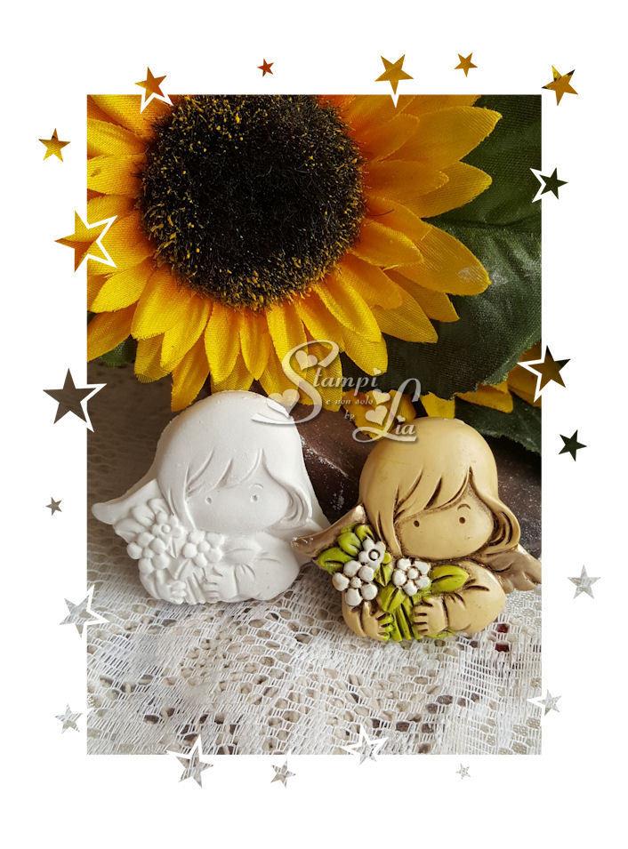 Stampo *Angelo con fiori*