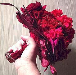 bouquet di fiori di perline fatte a mano