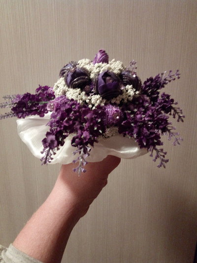bouquet di perline fatto a mano