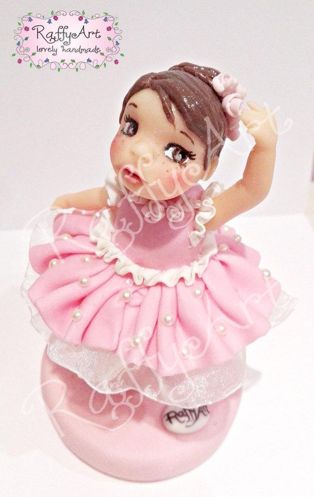 """Cake topper """"Primi passi di danza"""" (personalizzabile)"""