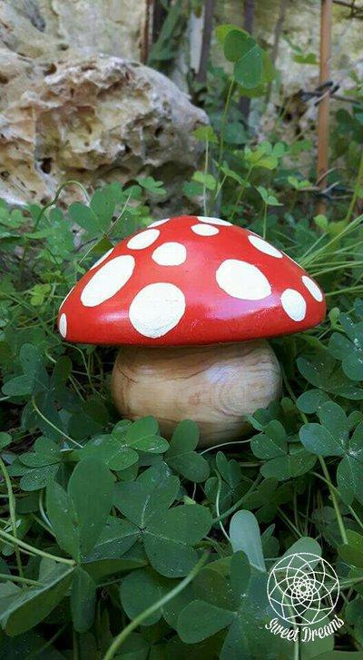 cofanetto fungo legno