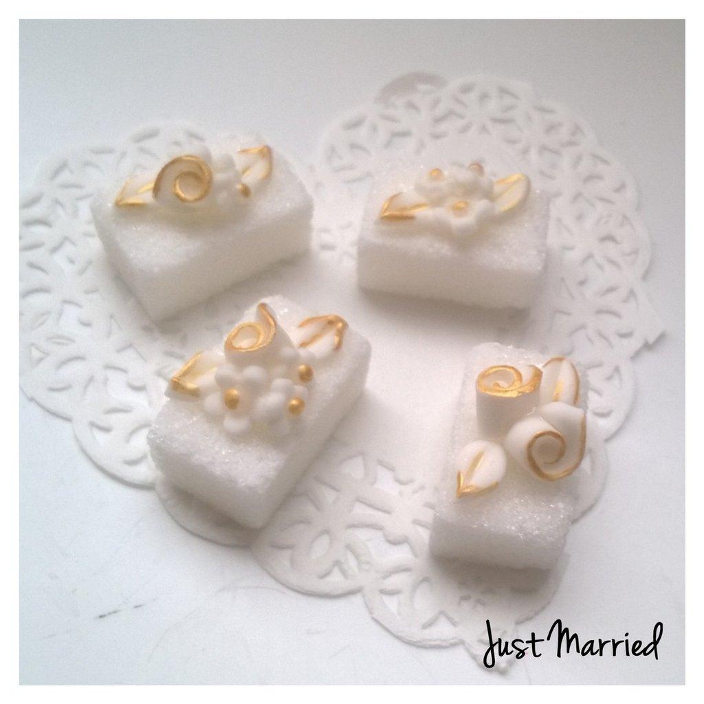 zollette decorate, segnaposto cinquantesimo anniversario di matrimonio