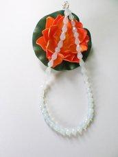 collana gocce di opale e pietre tonde