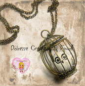 Collana gabbietta Edvige   Harry Potter HANDMADE civetta idea regalo kawaii