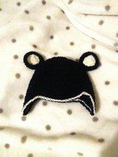 cappellino in lana merinos neonato uncinetto