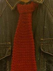 Cravatta bordeaux unisex