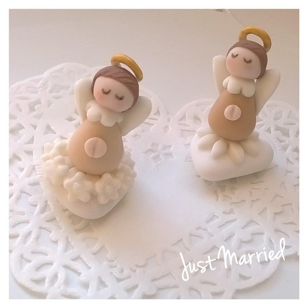 angelo confetti decorati con angeli prima comunione