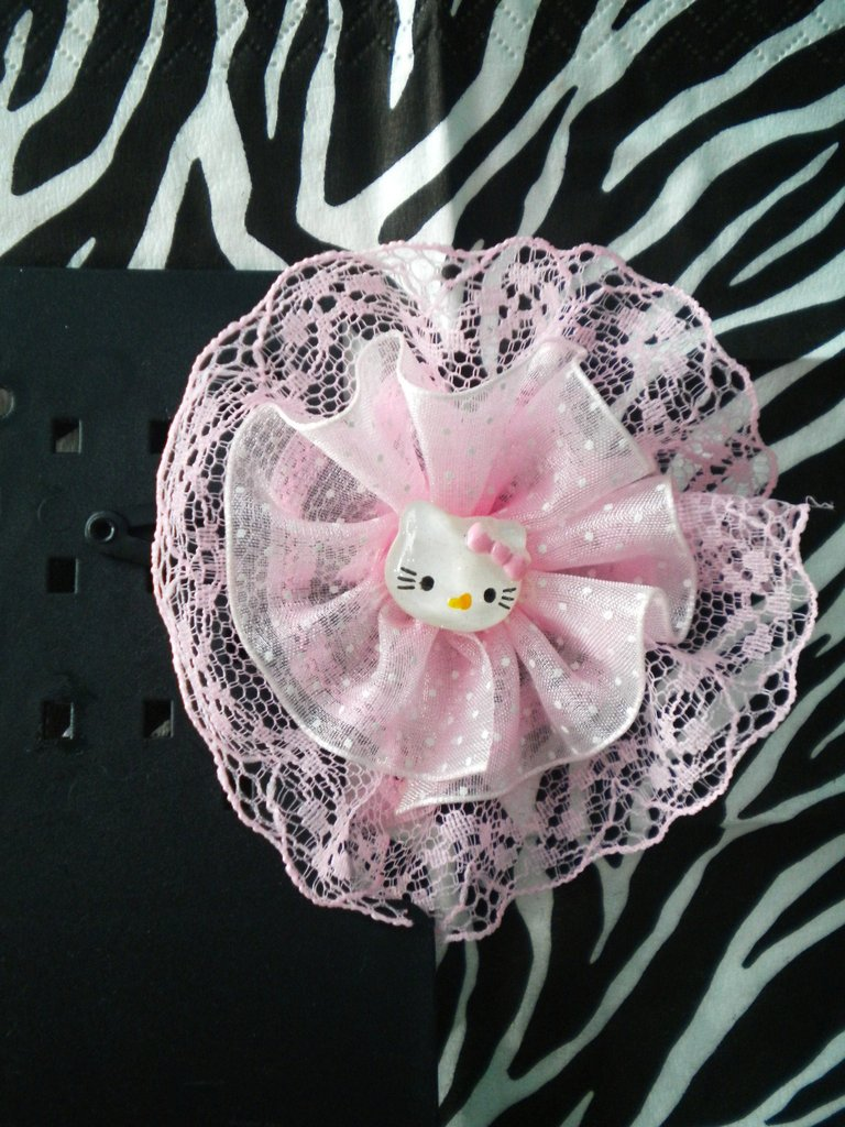 Mollettina Hello Kitty con trine rosa