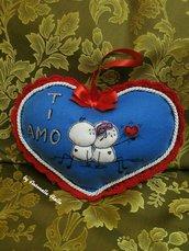 cuscino cuore personaggi  Bigli Migli   innamorati