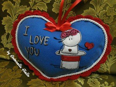 cuscino cuore romantico
