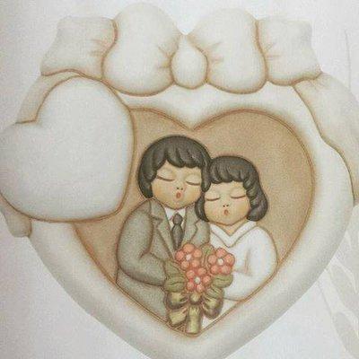 Quadretto anniversario in ceramica