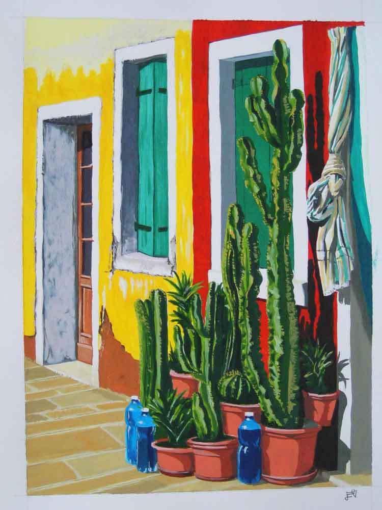 dipinto a tempera - cartoncino - BURANO