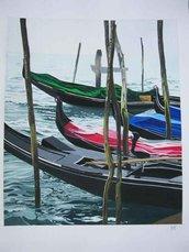 dipinto a tempera - cartoncino - GONDOLE
