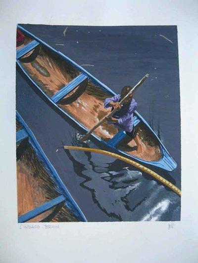 dipinto a tempera - cartoncino - INDACO