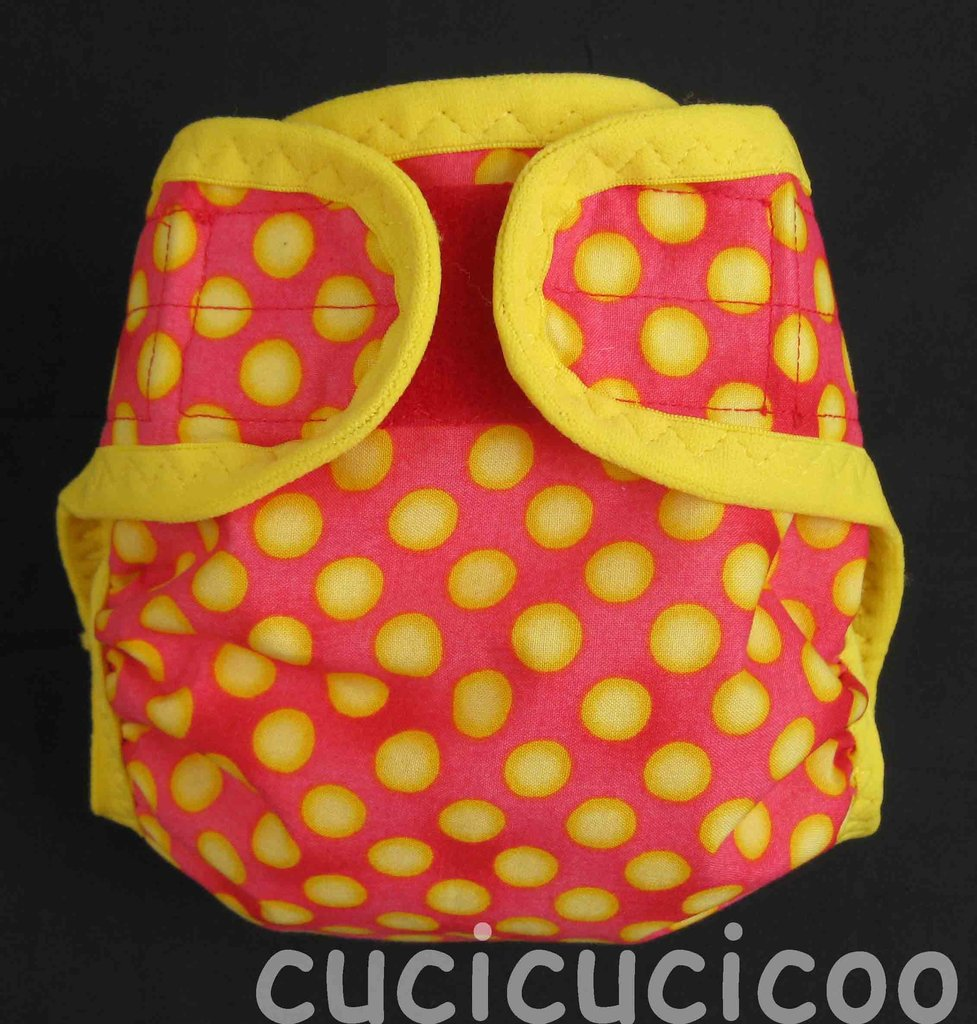 pannolino a tasca XL (pois gialli su rosso)