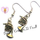 Orecchini Tromba - idea regalo argento tibetano - handmade