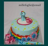 Cake Topper compleanno di zucchero ispirato al cartoon Mini Pony