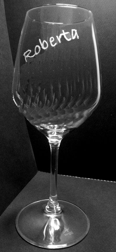 Bicchieri personalizzati con incisione a mano