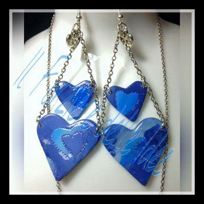 Doppio cuore azzurro