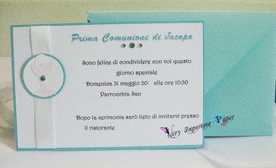 Invito comunione cartolina