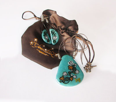Orecchini, Collana in fimo - Earrings pendant handmade