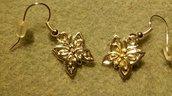 Orecchini farfalline color argento