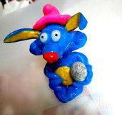 Bomboniera Coniglio blu