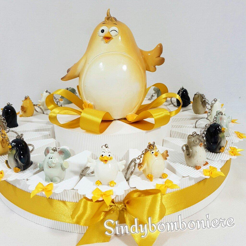 Torta bomboniera animaletti madagascar compleanno battesimo comunione cresima