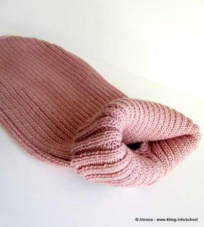 Pink Ladies, pullover cappottino per cani ( taglia XS ) in pura lana merinos rosa antico