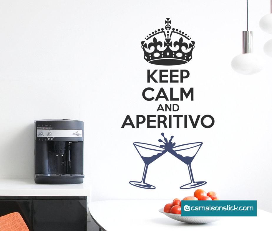 Keep calm and aperitivo - adesivo murale - sticker da parete