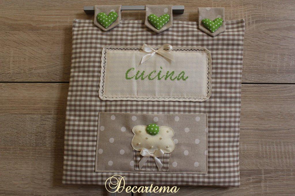 """Copriforno """"cupcake"""" in stile country chic personalizzato"""