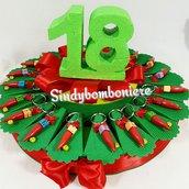Bomboniere 18 anni ( diciottesimo ) compleanno peperoncino corno fortuna