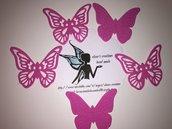 Farfalle fustellate in gomma crepla -Fommy