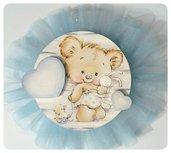 Fiocco nascita fuori porta azzurro