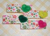 Bigliettini Collezione 'Fluffy Heart' per Segnaposto e Bomboniere - Funky Flowers^^