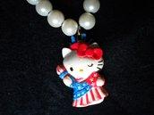 collana di perle con Hello Kitty U.S.A.