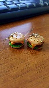 Orecchini Hamburger pendenti