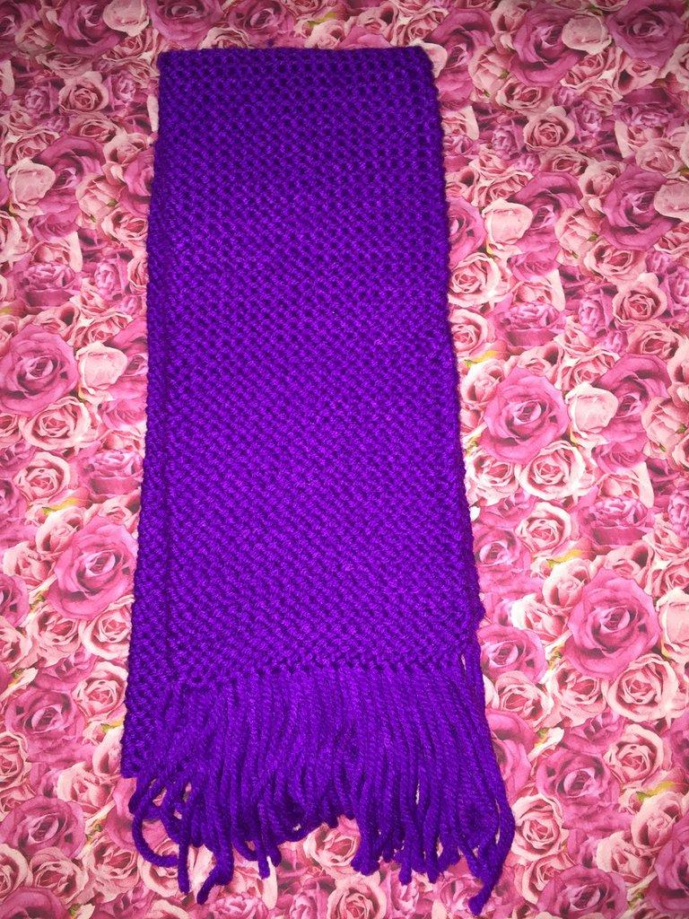 sciarpa viola morbidosa