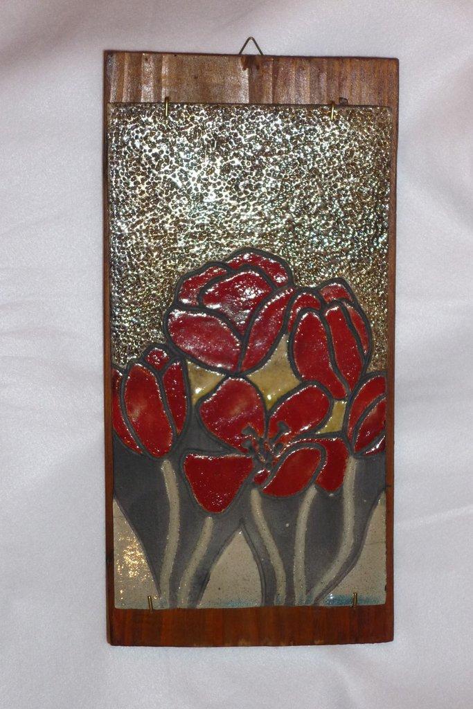 Pannello con tulipani rossi