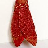 Nappa rossa con cordoni oro- decorazioni per mobili antichi