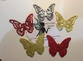 Farfalle fustellate in fommy(gomma crepla) Glitter