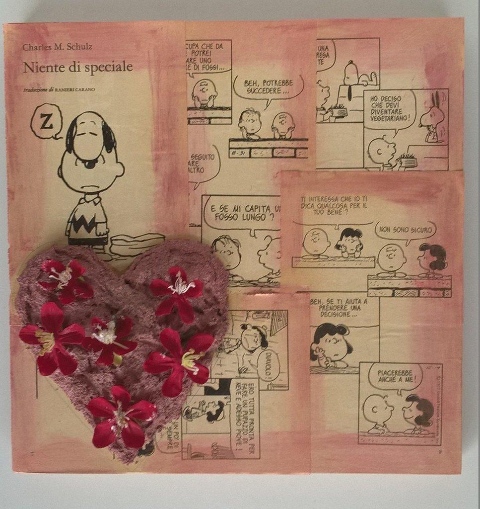 Quadro decorativo cuore decorazione Amore Fiorito Flowered Love