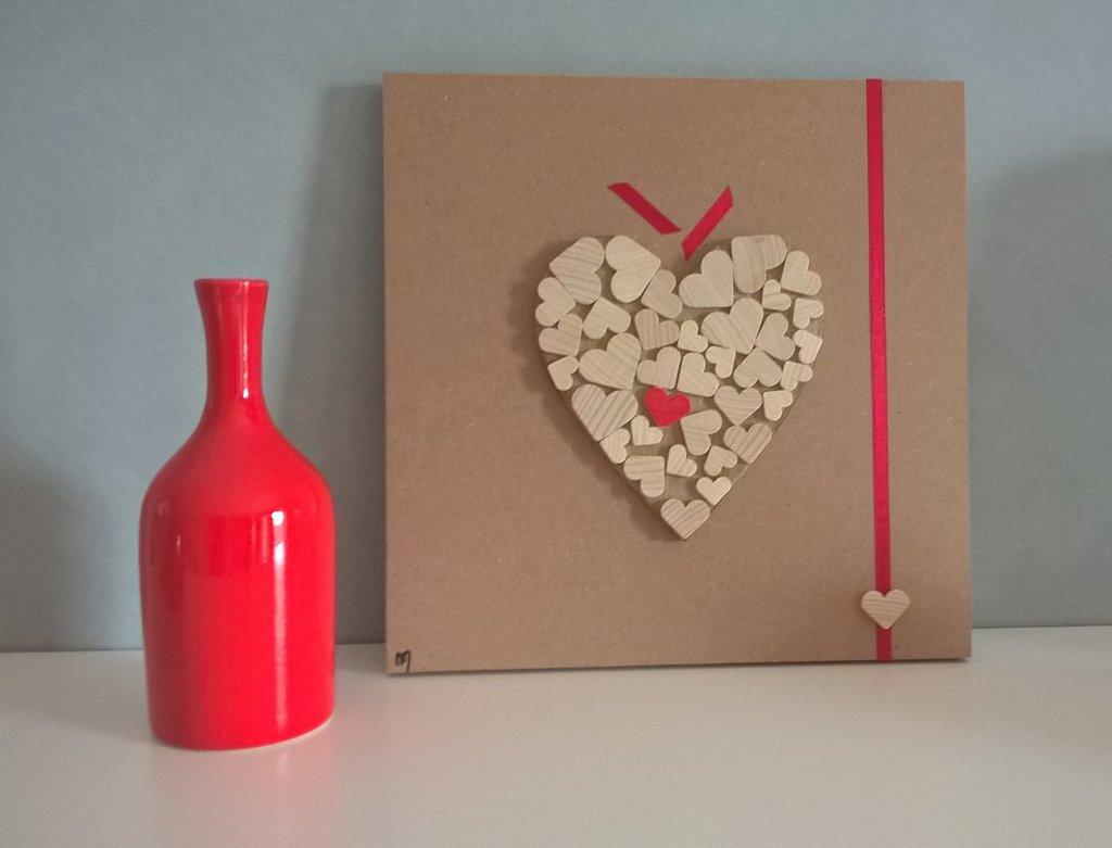 Quadro pannello decorativo cuore Amore per il Diverso Love for Different