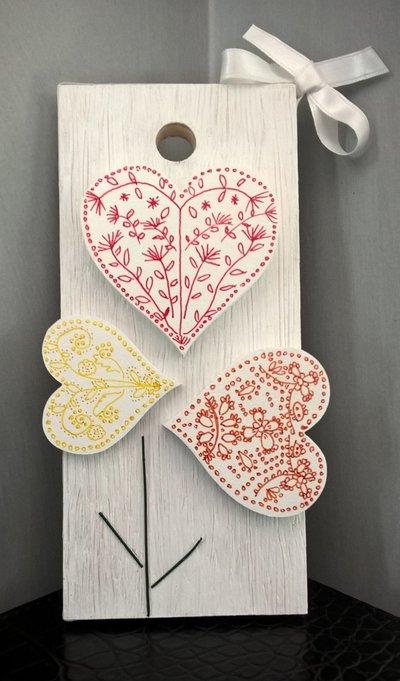 Quadretto pannello decorativo Flowers Love