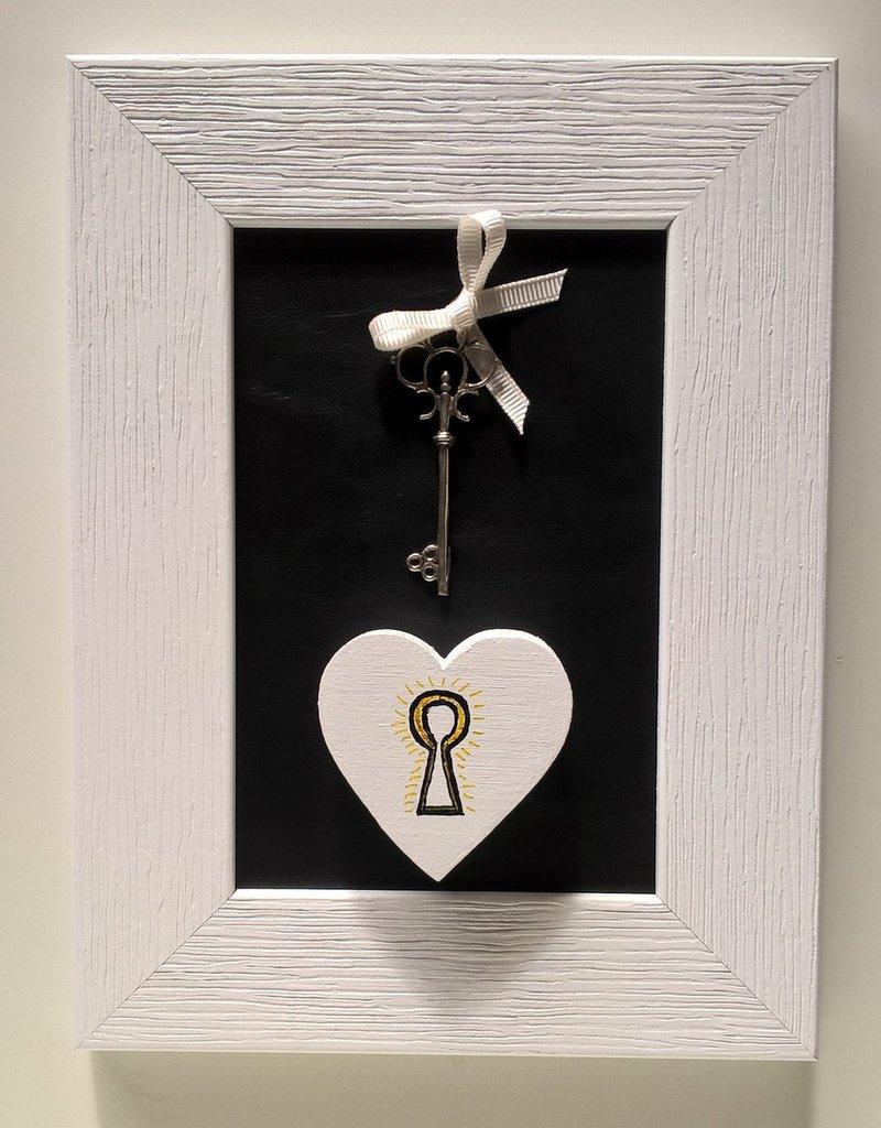 Quadretto decorativo decorazione cuore Open Your Heart