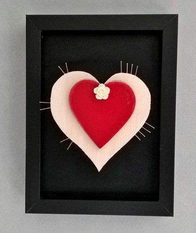 Quadretto decorativo decorazione cuore Suffering Love
