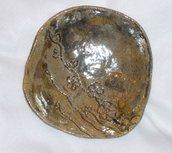 Ciotola ceramica Raku giallo/oro