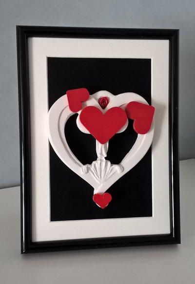 Quadretto decorativo cornice cuore Mum Love