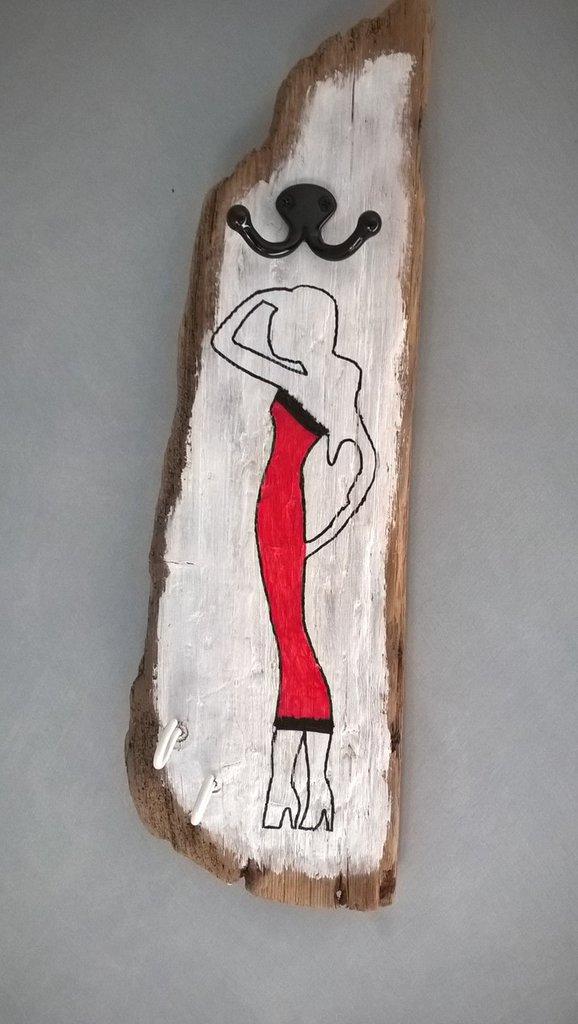 Appendiabiti appendino legno di mare driftwood