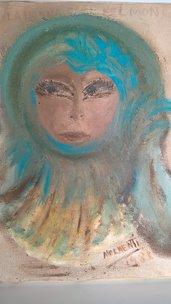 Dipinto ad olio La donna nel mondo